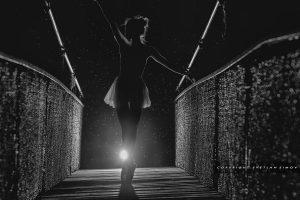 #ballet#dancing#dancing in the dark#ballerina#bridge#night#rain#under the rain