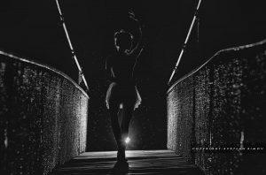 #ballet#dancing#dancing in the dark#ballerina#bridge#night#rain#under the rain;